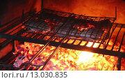 Купить «Стейки, приготовление пищи на гриле», видеоролик № 13030835, снято 9 ноября 2015 г. (c) Наталья Волкова / Фотобанк Лори
