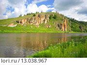 Купить «Река Ай», фото № 13038967, снято 23 июля 2015 г. (c) Игорь Потапов / Фотобанк Лори