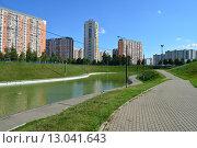 Купить «Дюссельдорфский парк. Москва», эксклюзивное фото № 13041643, снято 29 июля 2015 г. (c) lana1501 / Фотобанк Лори