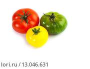 Купить «Помидоры разного цвета и сорта, Solanum lycopersicum», фото № 13046631, снято 15 апреля 2013 г. (c) Morgenstjerne / Фотобанк Лори