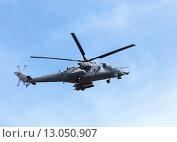 Военный вертолёт Ми-24. Стоковое фото, фотограф Владимир Приземлин / Фотобанк Лори