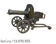 Купить «Легендарный пулемёт Максим», фото № 13070555, снято 14 октября 2015 г. (c) Георгий Хрущев / Фотобанк Лори