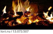 Горящие дрова в печи. Стоковое фото, фотограф Евгений Захаров / Фотобанк Лори