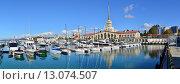 Купить «Сочинский морской торговый порт», фото № 13074507, снято 23 февраля 2019 г. (c) Игорь Архипов / Фотобанк Лори