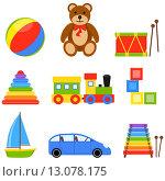 Купить «Детские игрушки», иллюстрация № 13078175 (c) Ирина Иглина / Фотобанк Лори
