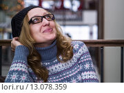 Стильная женщина хипстер. Стоковое фото, фотограф Земсков Андрей  Владимирович / Фотобанк Лори