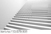 Купить «Серая лестница», иллюстрация № 13079931 (c) EugeneSergeev / Фотобанк Лори