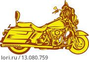 Купить «Большой круизный мотоцикл», иллюстрация № 13080759 (c) Aloysius Patrimonio / Фотобанк Лори