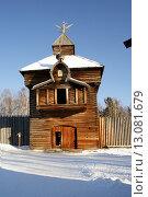 Острожная башня Илимского острога. Редакционное фото, фотограф Елена Овчаренко / Фотобанк Лори