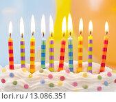 Купить «Birthday candles», фото № 13086351, снято 14 августа 2018 г. (c) PantherMedia / Фотобанк Лори