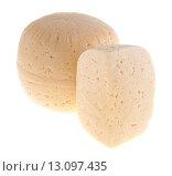 Купить «Головка сыра, изолированно на белом фоне», фото № 13097435, снято 6 сентября 2015 г. (c) Литвяк Игорь / Фотобанк Лори