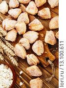 Купить «Домашнее печенье с творогом», фото № 13100611, снято 20 ноября 2015 г. (c) Надежда Мишкова / Фотобанк Лори