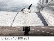 Купить «Винт и крыло самолета», фото № 13100931, снято 16 октября 2018 г. (c) Mikhail Starodubov / Фотобанк Лори