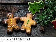 Купить «Рождественское печенье», фото № 13102471, снято 15 ноября 2018 г. (c) Руслан Митин / Фотобанк Лори
