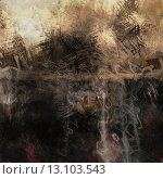 art abstract acrylic background in beige, grey, brown and black colors. Стоковое фото, агентство Ingram Publishing / Фотобанк Лори