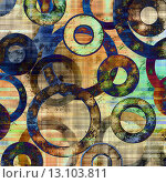 Купить «art abstract geometric textured colorful background with circles in white, beige, brown, blue and green colors», фото № 13103811, снято 16 июля 2018 г. (c) Ingram Publishing / Фотобанк Лори