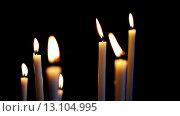 Купить «Group of burning candles», видеоролик № 13104995, снято 16 ноября 2015 г. (c) BestPhotoStudio / Фотобанк Лори