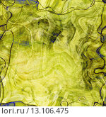 Купить «art abstract colorful chaotic waves seamless pattern in Klimt style; background in yellow, green and black colors», фото № 13106475, снято 22 августа 2019 г. (c) Ingram Publishing / Фотобанк Лори