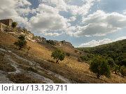 По дороге к древнему крымскому пещерному городу Чуфут-Кале. Стоковое фото, фотограф Никита Юдин / Фотобанк Лори