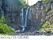 Водопад на плато Путорана. Стоковое фото, фотограф Сергей Дрозд / Фотобанк Лори
