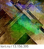 Купить «art abstract geometric textured colorful background in green, brown, blue and gold colors», фото № 13156395, снято 23 марта 2019 г. (c) Ingram Publishing / Фотобанк Лори