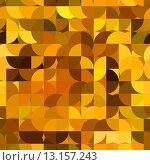 Купить «art abstract golden tiles background with circles, seamless pattern», фото № 13157243, снято 17 декабря 2018 г. (c) Ingram Publishing / Фотобанк Лори