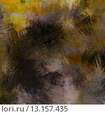 art abstract acrylic background in yellow, brown, grey and black colors. Стоковое фото, агентство Ingram Publishing / Фотобанк Лори