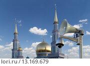 Купить «Одна из крупнейших мечетей России и Европы, Московская соборная мечеть», фото № 13169679, снято 6 ноября 2015 г. (c) Владимир Журавлев / Фотобанк Лори