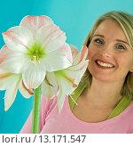 Купить «Hippeastrum Apple Blossom», фото № 13171547, снято 10 декабря 2005 г. (c) age Fotostock / Фотобанк Лори