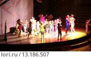 Купить «Праздничная детская дискотека в вечернее время. Отель Alf Leila Wa Leila spa (1001 Nights). Хургада, Египет», видеоролик № 13186507, снято 23 ноября 2015 г. (c) Кекяляйнен Андрей / Фотобанк Лори