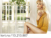 Купить «Blonde lady in the luxury house», фото № 13213887, снято 25 ноября 2013 г. (c) Ingram Publishing / Фотобанк Лори