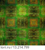art abstract acrylic and pencil colorful background with damask pattern in green and brown colors. Стоковое фото, агентство Ingram Publishing / Фотобанк Лори