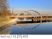 Мост через р. Муховец в Бресте. Стоковое фото, фотограф Лидия Хвесюк / Фотобанк Лори