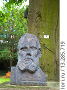 Купить «Bust statue of Fyodor Dostoevsky who spent time in town Kurpark park Wiesbaden city state of Hesse Germany Europe», фото № 13285719, снято 14 декабря 2018 г. (c) age Fotostock / Фотобанк Лори