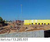 Метродепо Солнцево (стройка), фото № 13285931, снято 12 августа 2015 г. (c) ДЕНЩИКОВ Александр Витальевич / Фотобанк Лори