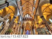 Salisbury Cathedral, Salisbury, Wiltshire, UK. Редакционное фото, фотограф Ivan Vdovin / age Fotostock / Фотобанк Лори