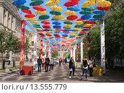 «Аллея парящих зонтиков» г. Петербург (2015 год). Редакционное фото, фотограф Лидия Хвесюк / Фотобанк Лори