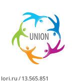 Купить «Логотип союза людей», иллюстрация № 13565851 (c) Алексей Бутенков / Фотобанк Лори