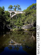 Купить «Historic Chowey Bridge a concrete span construction Biggenden, Queensland, Australia», фото № 13645327, снято 23 января 2020 г. (c) age Fotostock / Фотобанк Лори