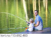 Купить «Fishing», фото № 13692483, снято 11 августа 2015 г. (c) Raev Denis / Фотобанк Лори