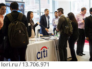 Купить «Engineers and applied science students attend an Engineering and Technology Spring Career Fair in Brooklyn in in New York The US Labor Department reports...», фото № 13706971, снято 22 ноября 2019 г. (c) age Fotostock / Фотобанк Лори