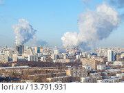 Отопительный сезон в Москве. Стоковое фото, фотограф Данила Михин / Фотобанк Лори