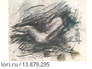 Nude (nudo femminile), 1900-1910, Medardo Rosso,1858-1928, pencil, national gallery of modern art, Rome, Italy. Редакционное фото, фотограф Stefano Baldini / age Fotostock / Фотобанк Лори