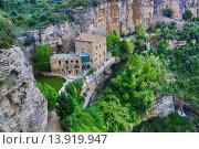 Купить «Spain, Catalunya, Barcelona province, San Miquel del Fai Mnastery.», фото № 13919947, снято 24 августа 2019 г. (c) age Fotostock / Фотобанк Лори