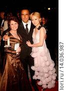 Adrianna Barraza, Alejandro Gonz?lez I??rritu & Rinko Kikuchi - Beverly Hills Beverly Hills/California California/United States United States - PARAMOUNT PICTURES 2007 GOLDEN GLOBE PARTY. Редакционное фото, фотограф visual/pictureperfect / age Fotostock / Фотобанк Лори