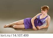 Купить «girl in a lavender negligee», фото № 14107499, снято 14 ноября 2015 г. (c) Типляшина Евгения / Фотобанк Лори