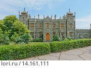 Купить «Воронцовский дворец. Алупка, Крым», фото № 14161111, снято 30 мая 2014 г. (c) Наталья Гармашева / Фотобанк Лори
