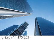 Купить «Facades of the Etihad Towers, Al Khubeira, Abu Dhabi, UAE», фото № 14175263, снято 19 апреля 2018 г. (c) age Fotostock / Фотобанк Лори