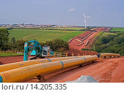Купить «laying LNG pipeline running from Milford Haven to England, United Kingdom, Wales, Pembrokeshire», фото № 14205335, снято 4 апреля 2020 г. (c) age Fotostock / Фотобанк Лори