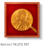 Купить «Headline: Alfred Nobel, Nobel Prize, honor, award, gold coin», фото № 14213107, снято 24 мая 2018 г. (c) age Fotostock / Фотобанк Лори